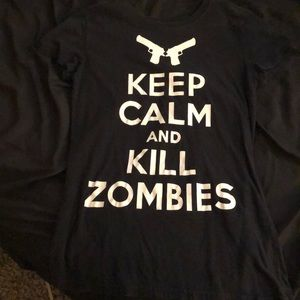 """Keep Calm and Kill Zombies"" Shirt"
